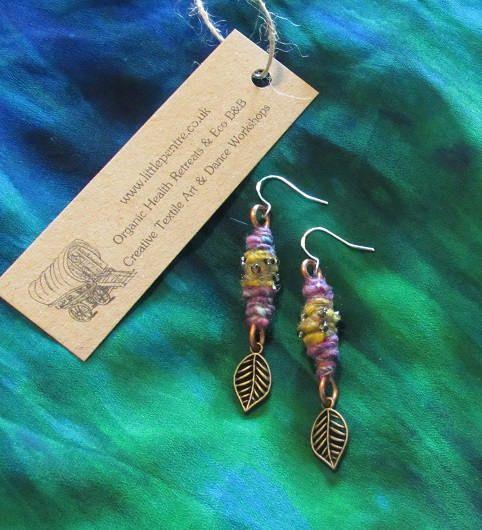 Leaf Dangle Earrings Tribal Gypsy Copper Indian Jewellery