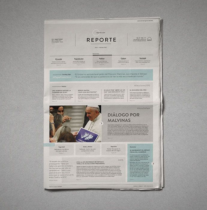 Reporte⎢Newspaper Covers by Melisa Rivas