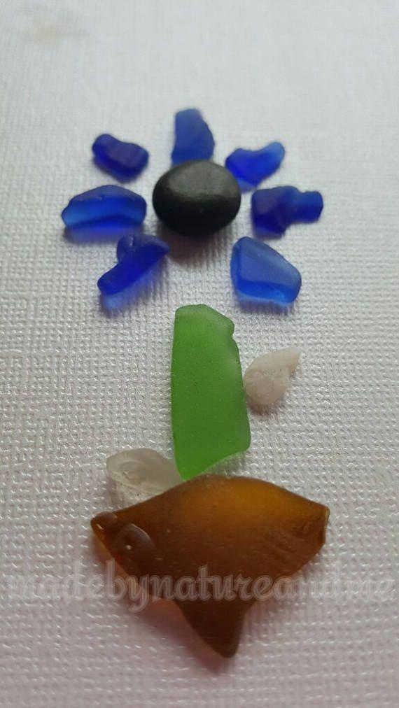 Arte de cristal único mar arte de cristal de playa regalo de