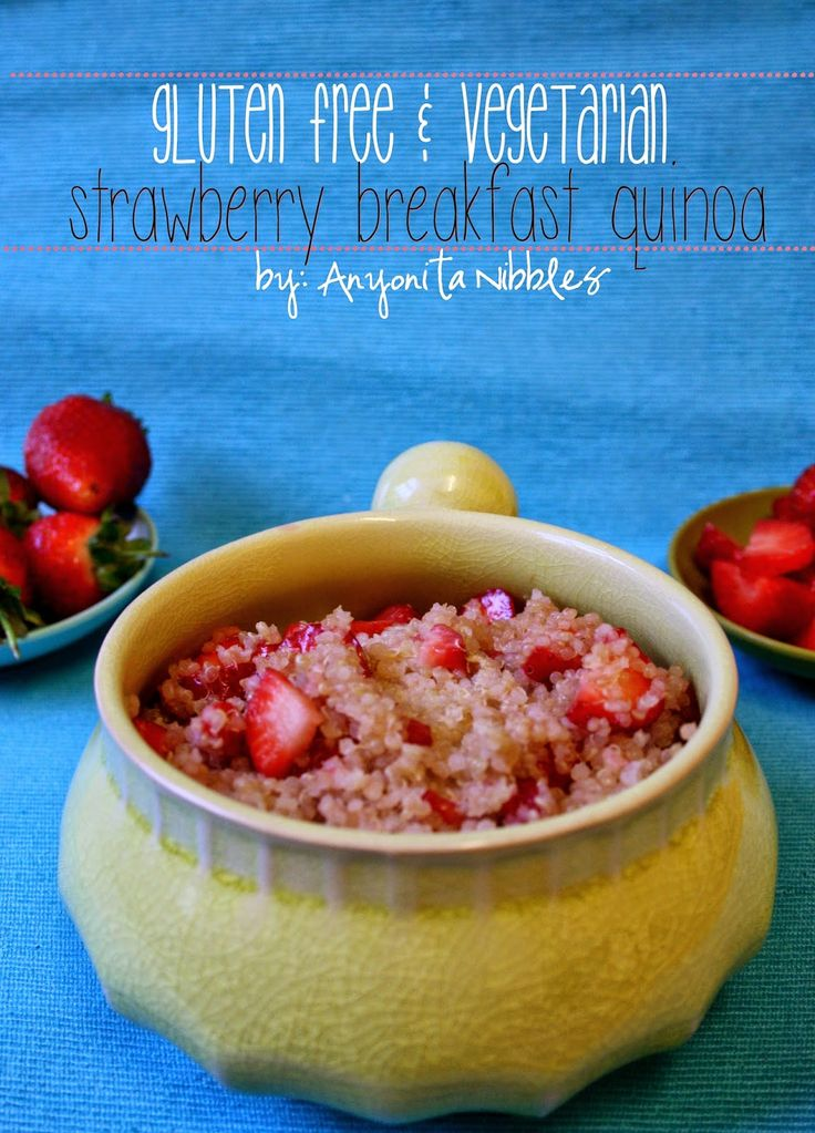 Gluten Free & Vegetarian Strawberry Breakfast Quiona from Anyonita Nibbles