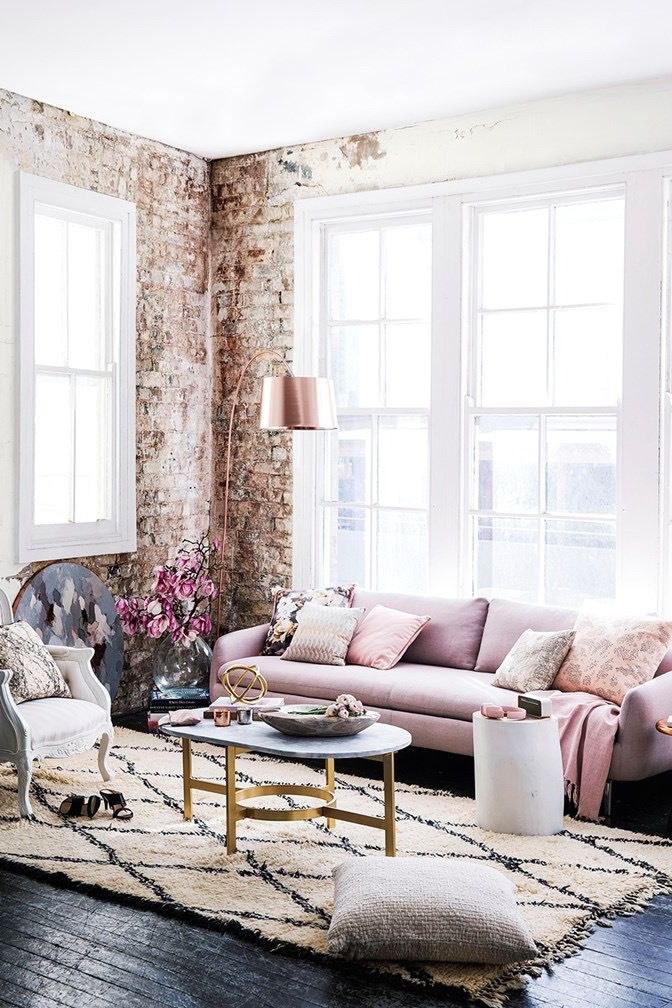 Interiors Inspiration Blush Pink Romantic Home Decor Interior Room Inspiration