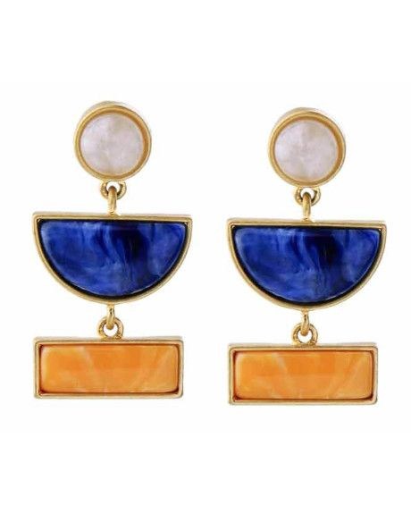 Add a little colour to your outfit with these statement earrings.