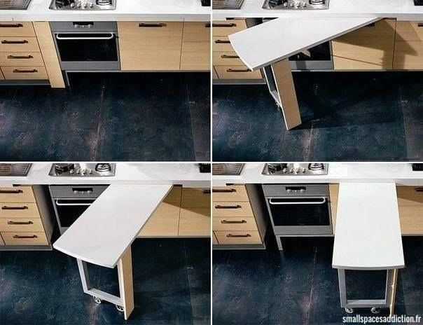 For ironing board in a utility room
