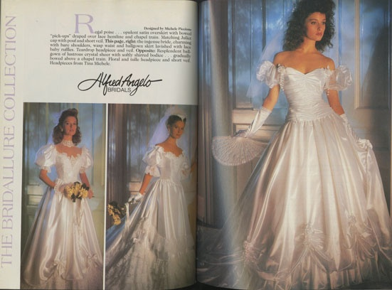 Alfred Angelo Vintage Designer Fashion Bride Ad From 1988