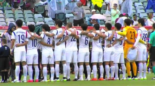 South Korea singing together asian cup 2015