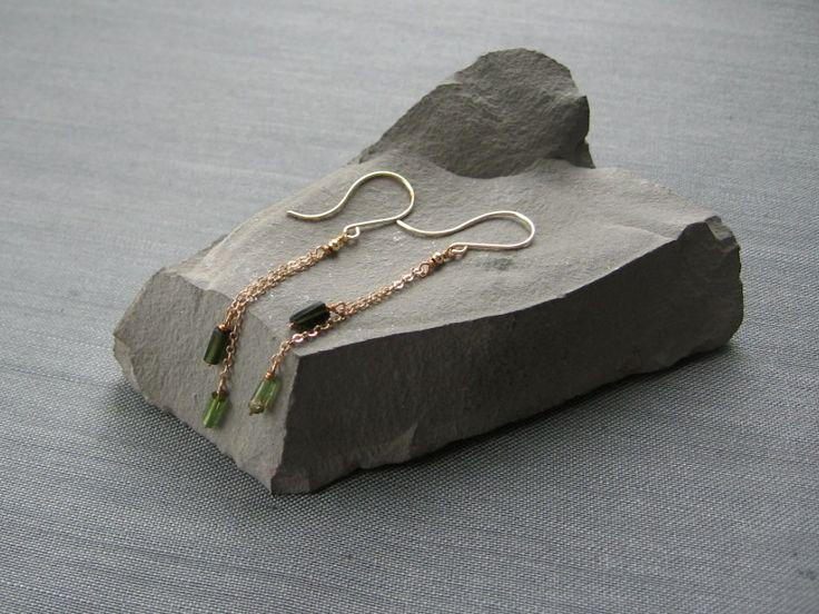 """Серьги """"Olivetta"""" из позолоты с турмалинами в магазине «S E R N A jewelry» на Ламбада-маркете"""