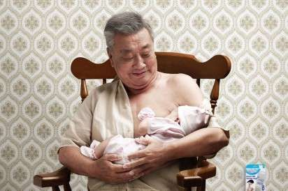 Breastfeeding Men Ads: The Nanny Breast Milk Storage Bag Campaign Depicts the Impossible (by Monday, Bangkok, Thailand)