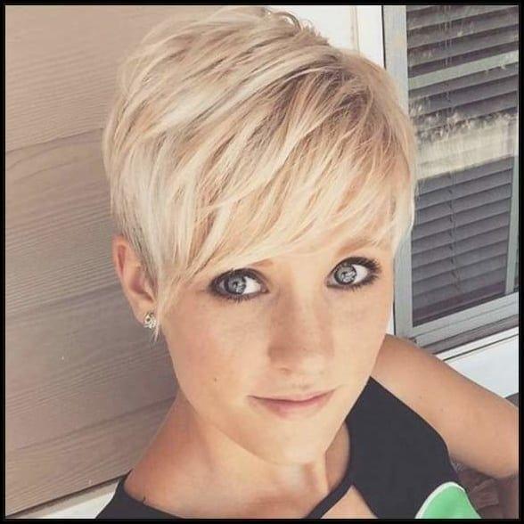 Grosse Frisuren Kurze Haare Damen 2017 Augen Make Up Silber Fur