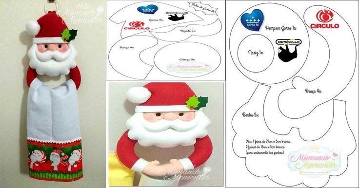 porta paños navideño de cocina de santa claus |                                                                                                                                                                                 Más