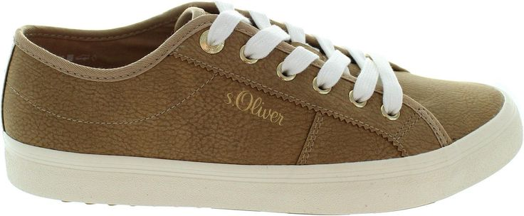 S.Oliver 5-23602-39 Men's Brown Lace Up Retro Baseball Style Casual Trainers