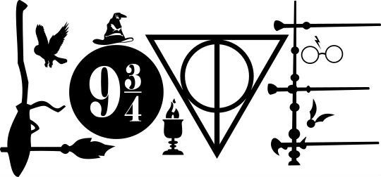 Harry Potter Symbols Love vinyl decal sticker.  - For use on most hard surfaces(Macbook, laptop, window, car, phone) - Made with high quality 651 vinyl by Oracal. Rated to last 6+ years outdoors. - Default size is roughly 6x 2.8. Please specify otherwise in comments. Same price up to 6 - For sizes beyond 6x6 use the customer order listing. - I recommend white for windows as it stands out best or choose from the color list and put it in the comments when you buy. - Red, Dark Blue, White, And…