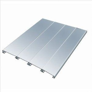 """Hallowell HEZD8448 Rivetwell EZ-Deck Decking - Galvanized Steel - 84 in. W x 48 in. D x 0.75 in. H, Knock Down by Hallowell-list. $83.57. Must Be Center Supported for Widths Greater Than 48.. 22 Gauge.. Construction Material: Galvanized Sheet Steel.. Dimensions: 84 W x 48 D x 0.75 H.. 1 Year Warranty.. For use with Hallowell Rivetwell Double Rivet Shelving Units (one per level). Dimensions: 84"""" W x 48"""" D x 0.75"""" H. 22 Gauge. Must Be Center Supported for Widths Greater Tha..."""