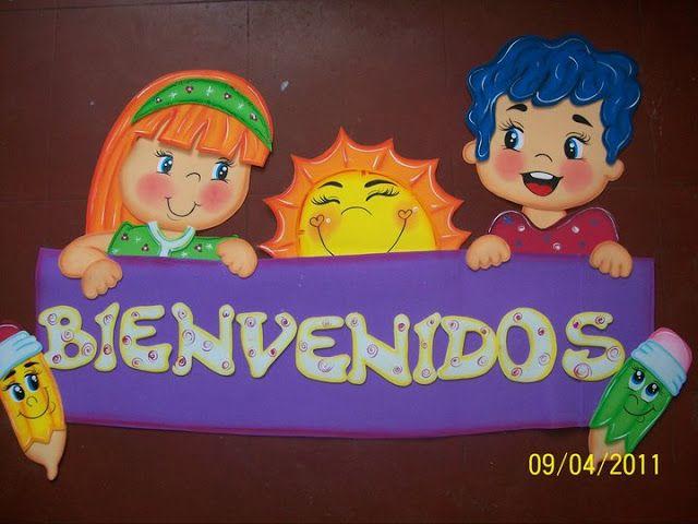 17 mejores ideas sobre letras de bienvenidos en pinterest for Decoracion de espacios de preescolar