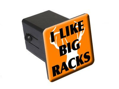 "I Like Big Racks - Deer Head - Hunting - 2"" Tow Trailer Hitch Cover Plug Insert - http://carluggagecarrier.bgmao.com/i-like-big-racks-deer-head-hunting-2-tow-trailer-hitch-cover-plug-insert"