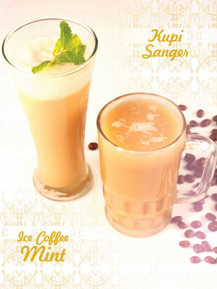 Kupi Sanger and Ice Coffee Mint
