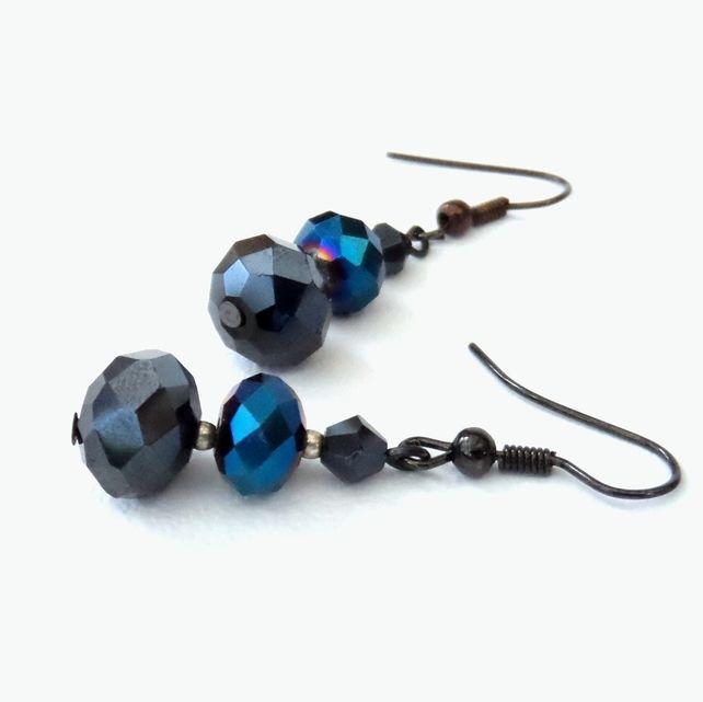 Three crystals handmade earrings £6.00