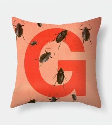 Letter G pillow