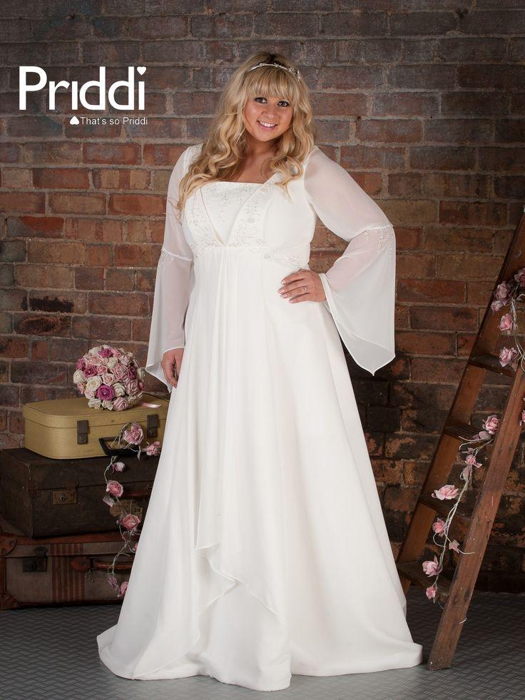 Fuller figure Bronte long sleeved wedding dress
