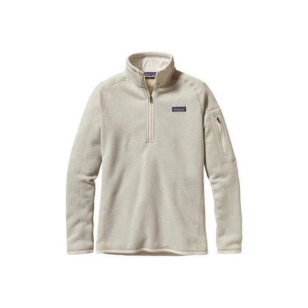 Women's Patagonia Better Sweater 1/4 Zip 25617 - Raw Linen Sweaters ($74) ❤ liked on Polyvore featuring tops, tops/outerwear, none, zipper sweater, layered sweater, layered tops, zip top and linen tops