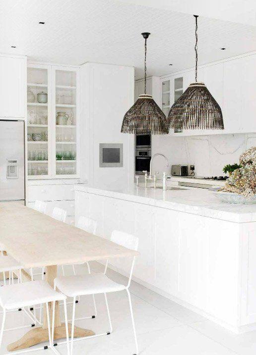 A Dozen Inspiring All-White Kitchens