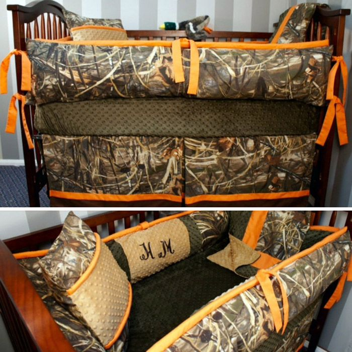 Camo Crib Set Baby Shower Ideas Baby boy bedding sets