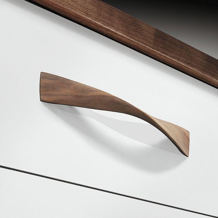Details About Hafele Wood Twist Pull Handle Kitchen Bedroom