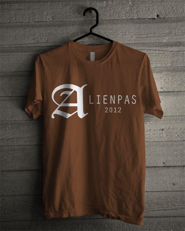 T-shirt Alienpas #4 (Brown)