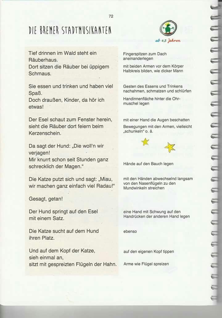 Die Bremer Stadtmusikanten #märchen #fingerspiel #krippe #kita #kindergarten  – Fru tilla