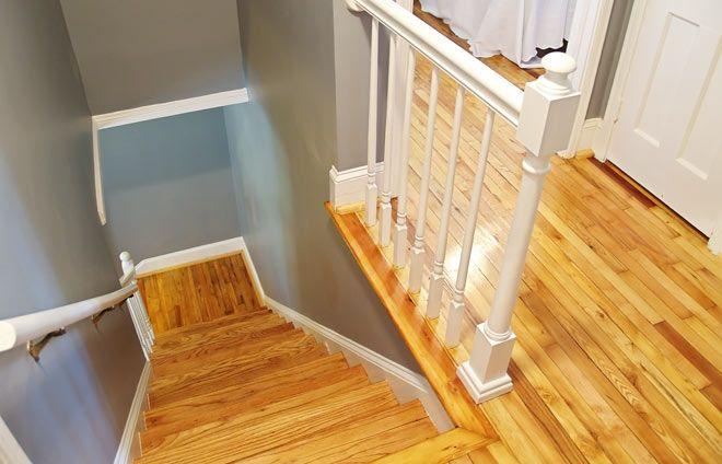 Utförd trapprenovering på gammal trätrappa