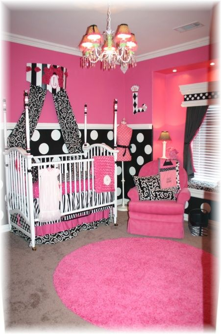 I would die to have a little girls nursery like this!! ah.