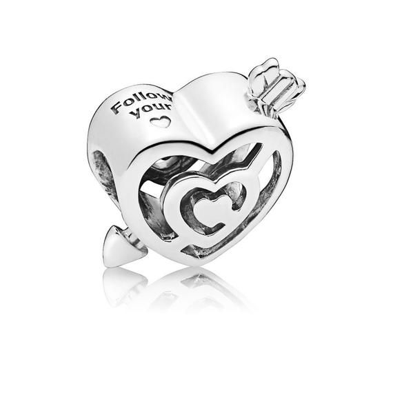925 Sterling Silver Love Heart in Your Hands Charm for Charms Bracelets Xmas Gifts Idea