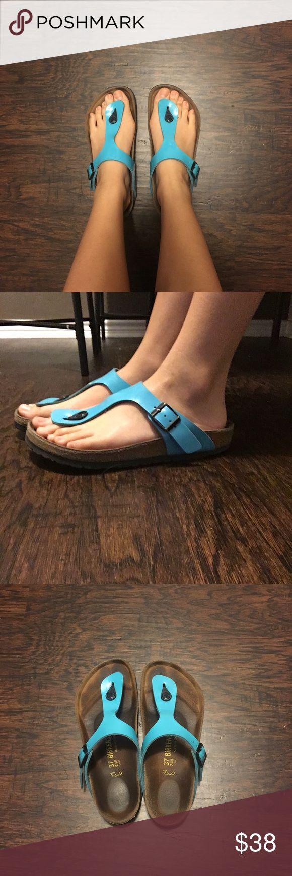 Birkenstock slipper Bright blue Birkenstock Birkenstock Shoes Slippers