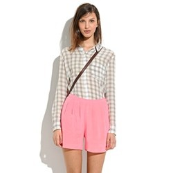Silk Tap Shorts MadewellNeon Melon, Style, Clothing, Silk Shorts, Fall, Pink Silk, Silk Taps, Madewell Silk, Taps Shorts