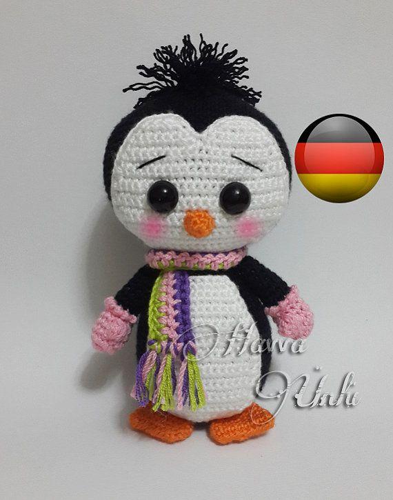 Deutsche Anleitungen - Kleiner Pinguin Häkelanleitung. Crochet Penguin. (Sold out. Inspiration).