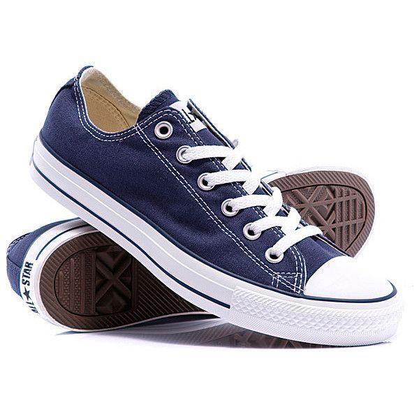 кеды Кеды кроссовки Converse All Star Ox Unisex Navy купить с... ❤ liked on Polyvore featuring shoes and sneakers