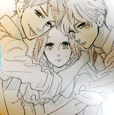 hirunaka no ryuusei (daytime shooting star) Sensei, Chun Chun, and Mamura