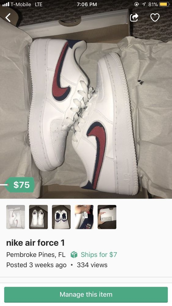 Nike Air Force 1 Low Boys  Grade School White University Red Blue O3620101   fashion  clothing  shoes  accessories  kidsclothingshoesaccs  boysshoes ( ebay ... 6f36c3f96