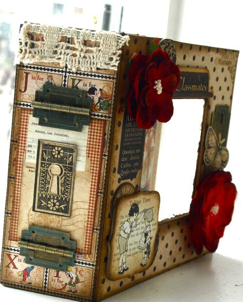 Beautiful altered art box from our blog! #graphic45 #alteredartbox #DIY