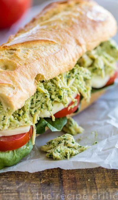 Basil Pesto Chicken Sandwich