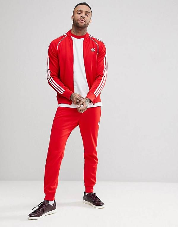 661b8a5a3 adidas Originals adicolor Tracksuit in Red | Adidas clothing in 2019 ...