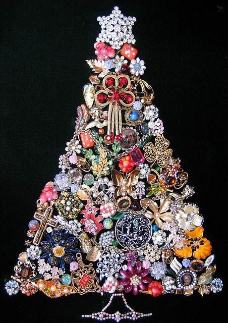 Jewelry tree.....such a great idea for all that costume jewelry that you might have laying around.