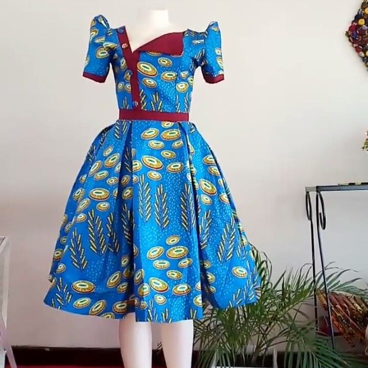 Unique chitenge dress.