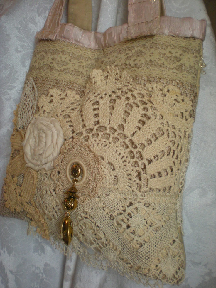Vintage Inspired Purse - Shabby Chic Gypsy Bag - Lace Purse - Vintage Linens and Lace -