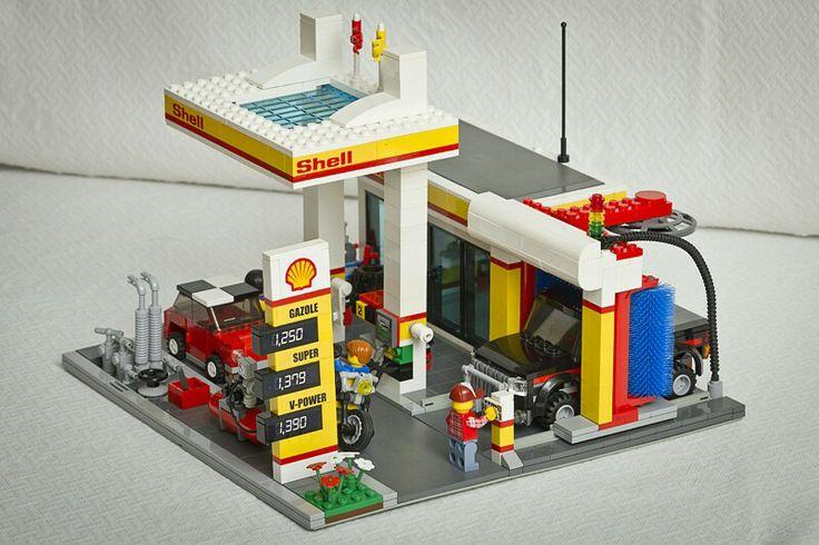 115 best lego service station images on pinterest lego building lego architecture and lego city. Black Bedroom Furniture Sets. Home Design Ideas
