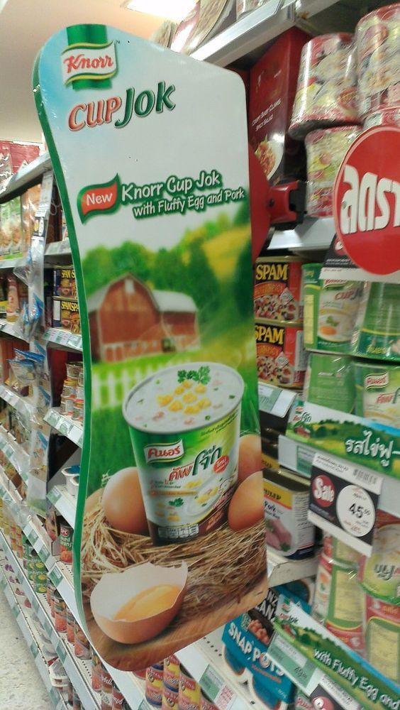 Knorr Cup Jok Shelf Talker Bangkok | Shelf Banner | Talker | Wobbler | point of purchase at thesellingpoints.com: