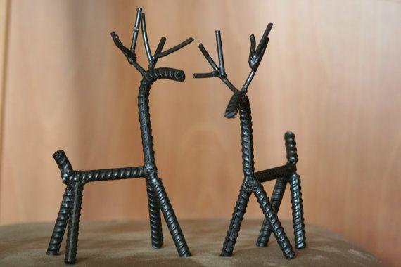 2 of Santa's Rebar Reindeer by WeldedWizardry on Etsy, $38.00