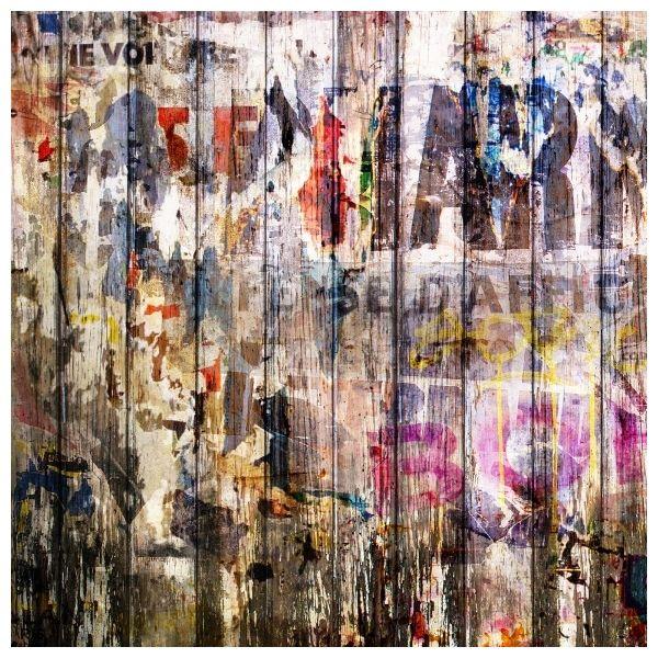 Décor mural - Rebel Walls - Graffiti on Boards - Multicolore