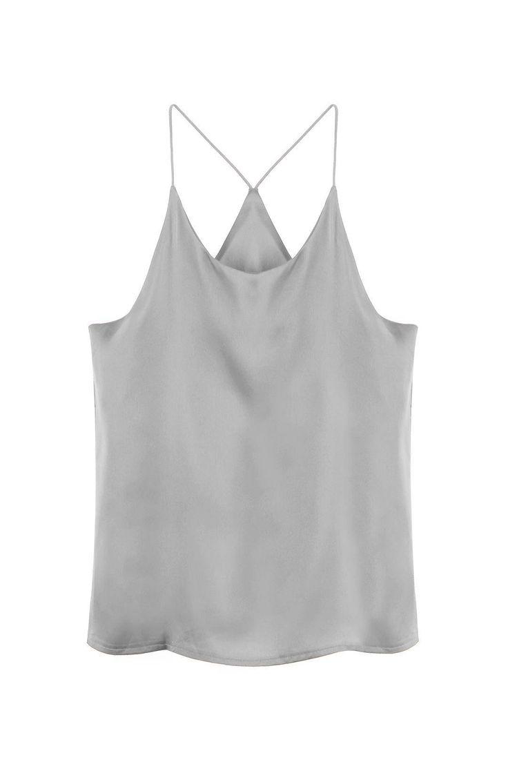 Grey Cami Top - US$13.95 -YOINS