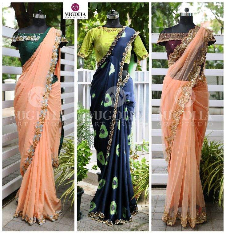 Here are the wonderful saree collections from Mugdha Art Studio woth off shoulder blouse. To Order : Whatsapp +91 8142029190/ 9010906544 For Call: 8899840840 (IVR) . 01 July 2017