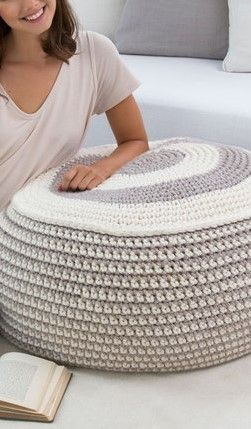 [Free Pattern] Beautiful And Stylish Crochet Pouf For People Who Love Where They Live